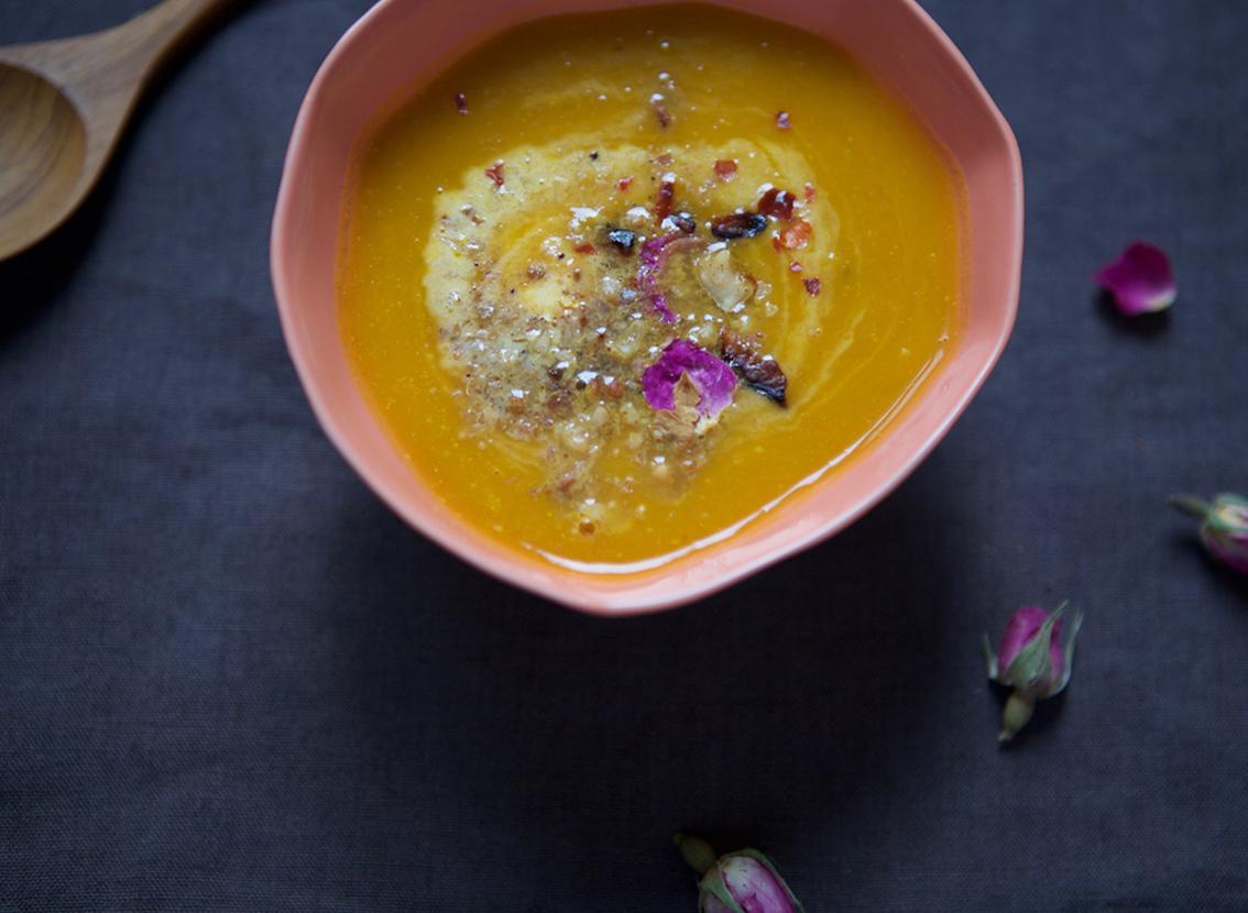 Gemüsesuppe trifft Orient -